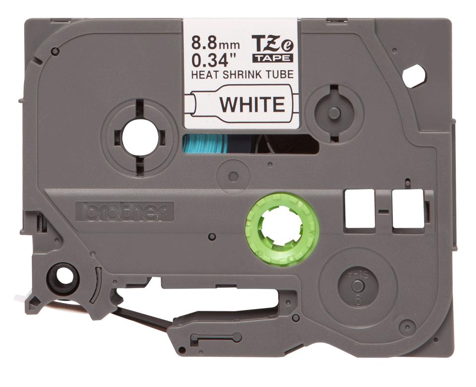 Original HSE-221 Etikettenrolle von Brother – Schwarz auf Weiß mit Schrumpfschlauch, 8,8 mm x 1,5 m