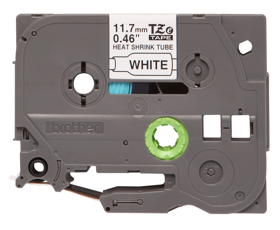 Original HSe-231 Schrumpfschlauchkassette von Brother – Schwarz auf Weiß, 11,7mm breit