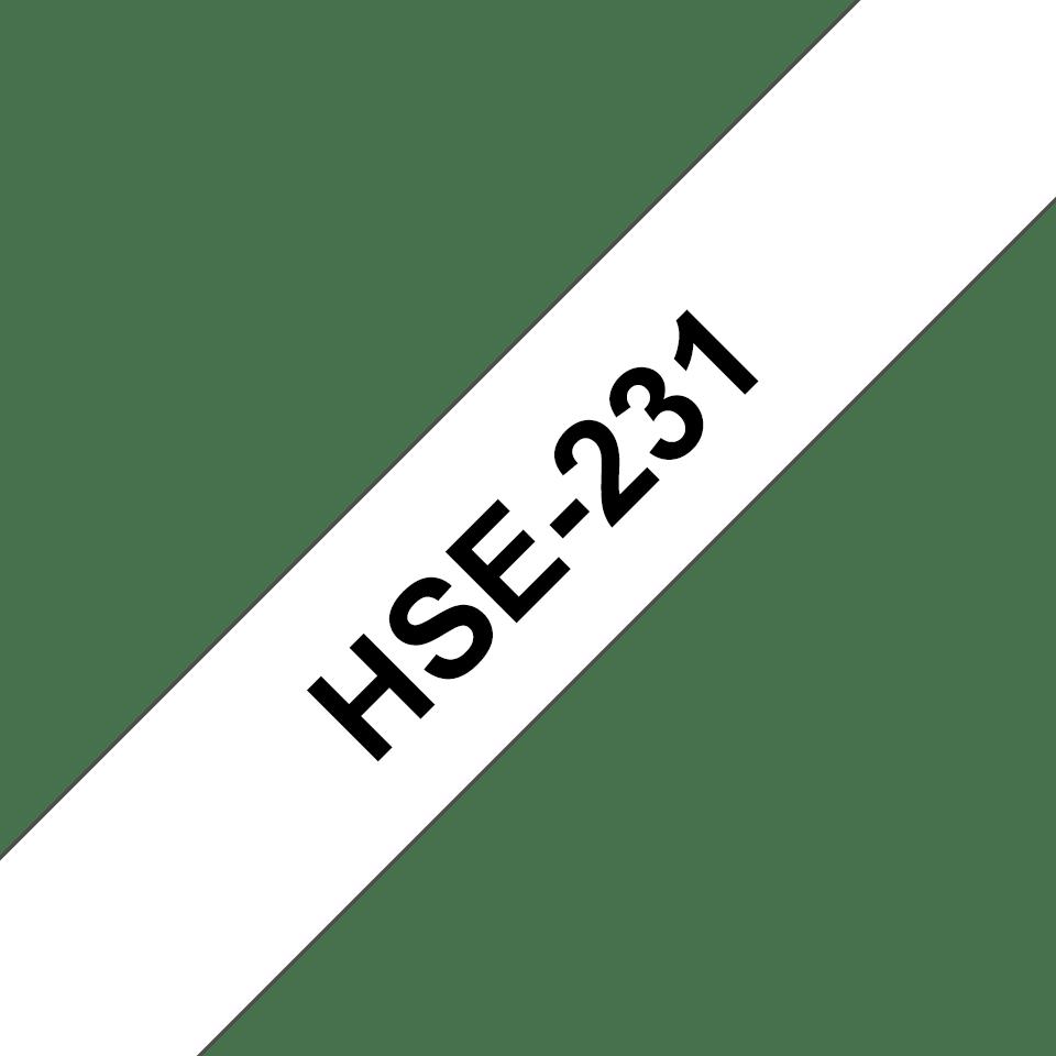 Original HSe-231 Schrumpfschlauchkassette von Brother – Schwarz auf Weiß, 11,7mm breit 3