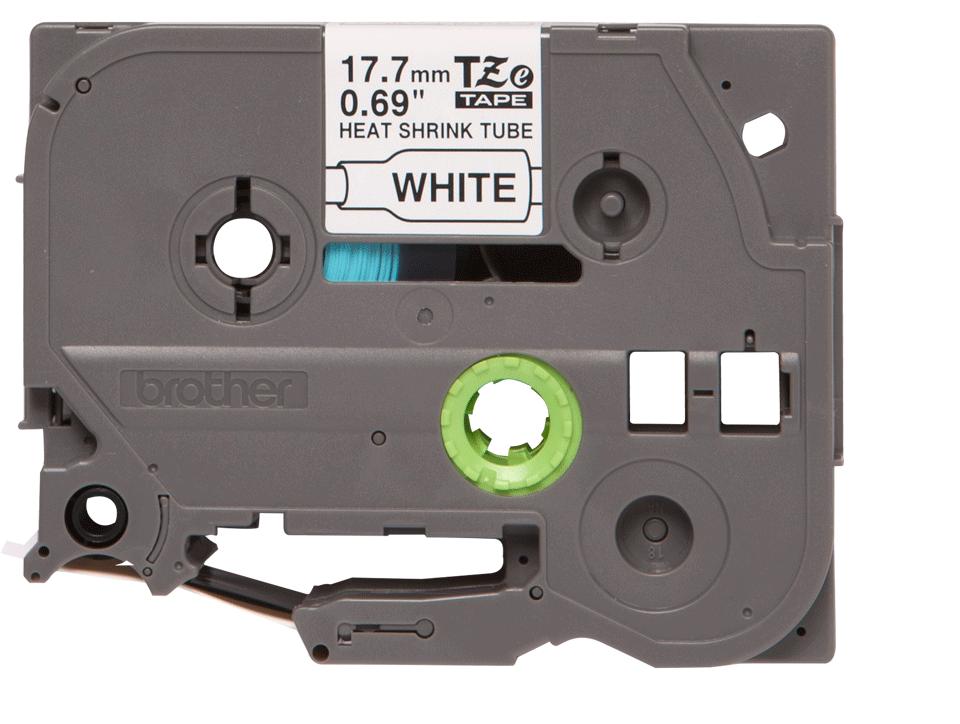 Original HSe-241 Wärmeschrumpfschlauchkassette von Brother – Schwarz auf Weiß, 17,7mm breit