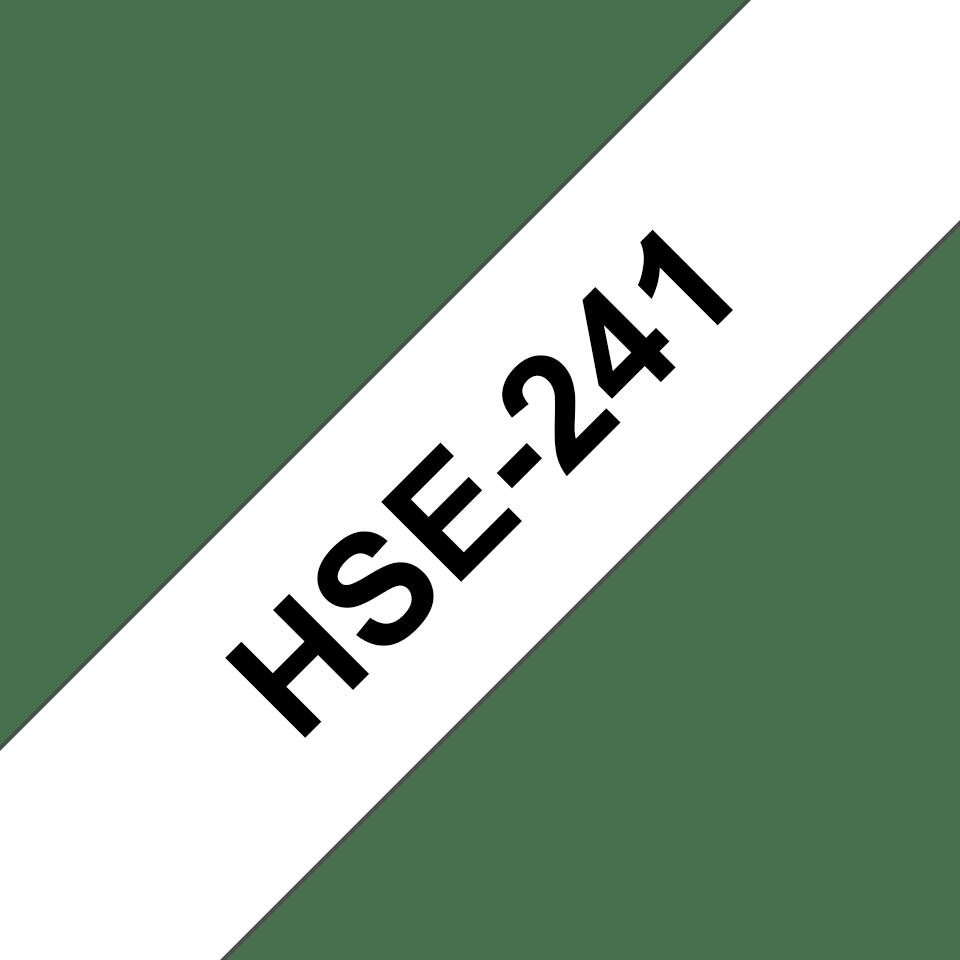 Original HSe-241 Wärmeschrumpfschlauchkassette von Brother – Schwarz auf Weiß, 17,7mm breit 3