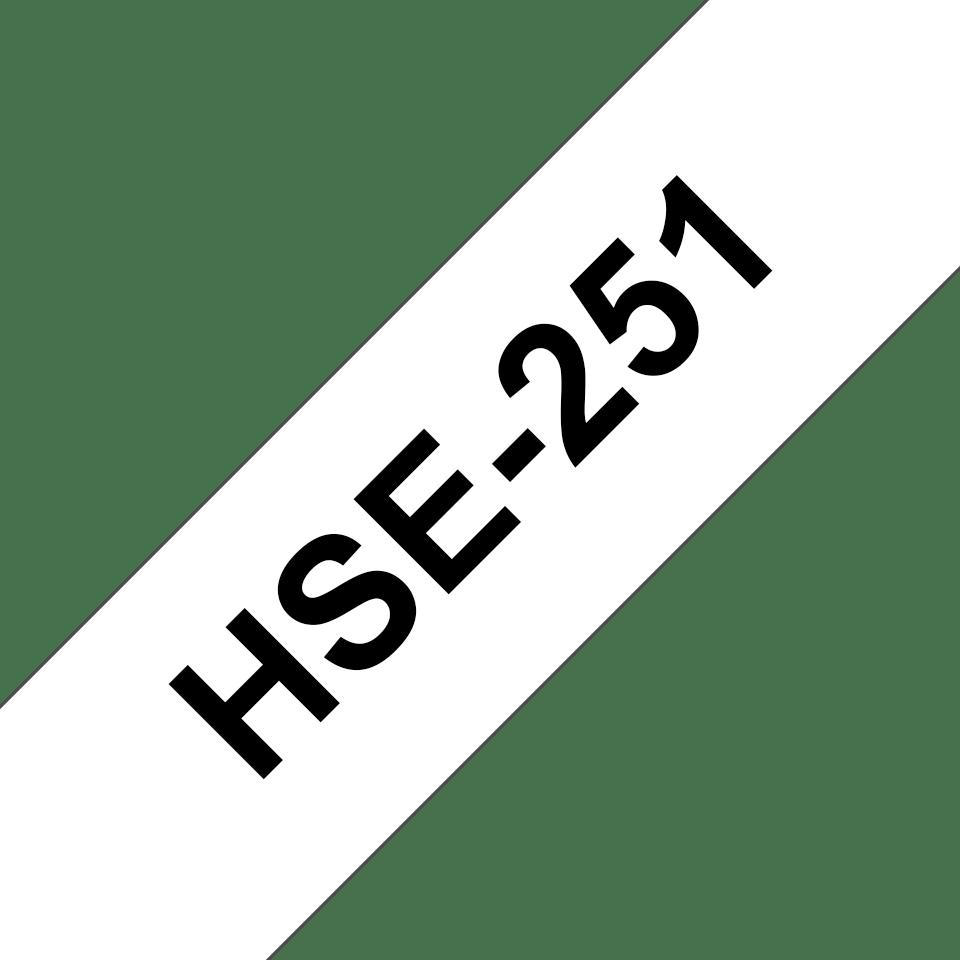 Original HSe-251 Wärmeschrumpfschlauchkassette von Brother – Schwarz auf Weiß, 23,6mm breit 3