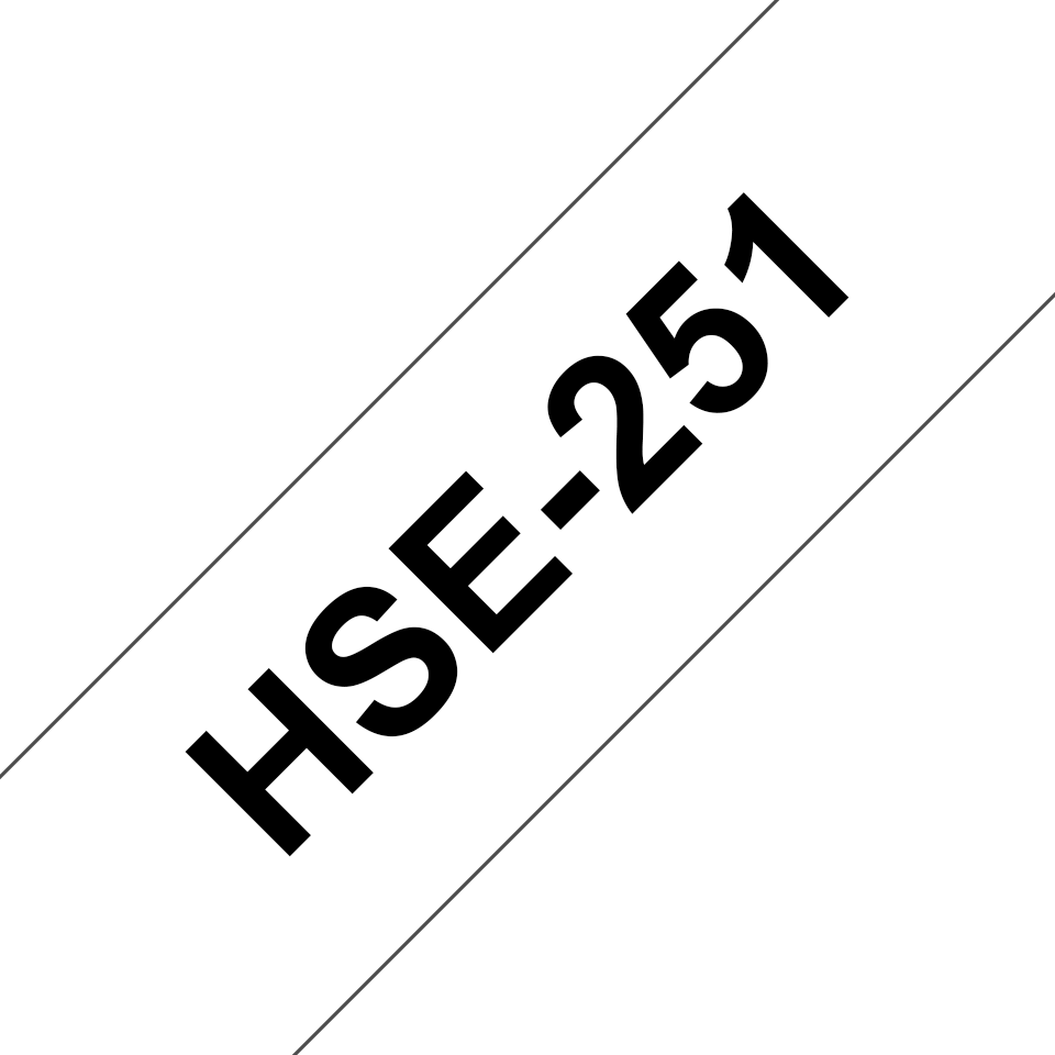 Original HSe-251 Wärmeschrumpfschlauchkassette von Brother – Schwarz auf Weiß, 23,6mm breit