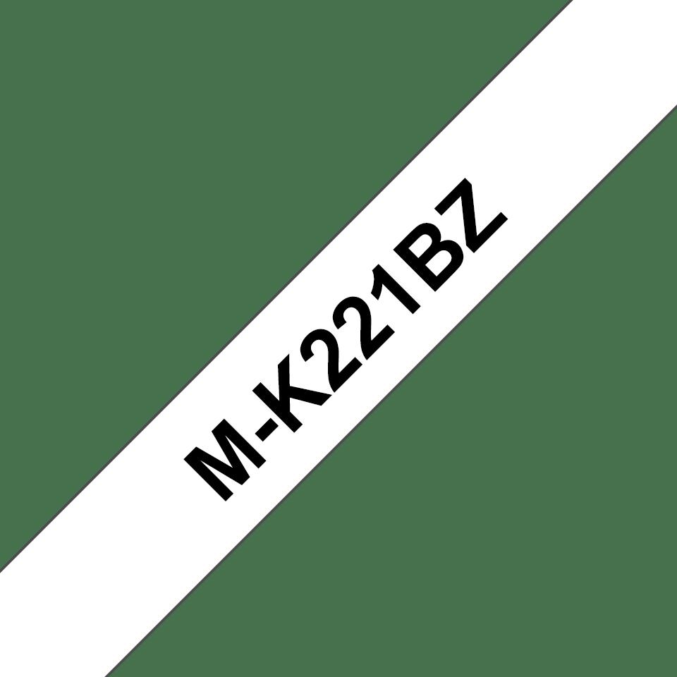Original M-K221BZ Schriftbandkassette von Brother – Schwarz auf Weiß, 9mm breit