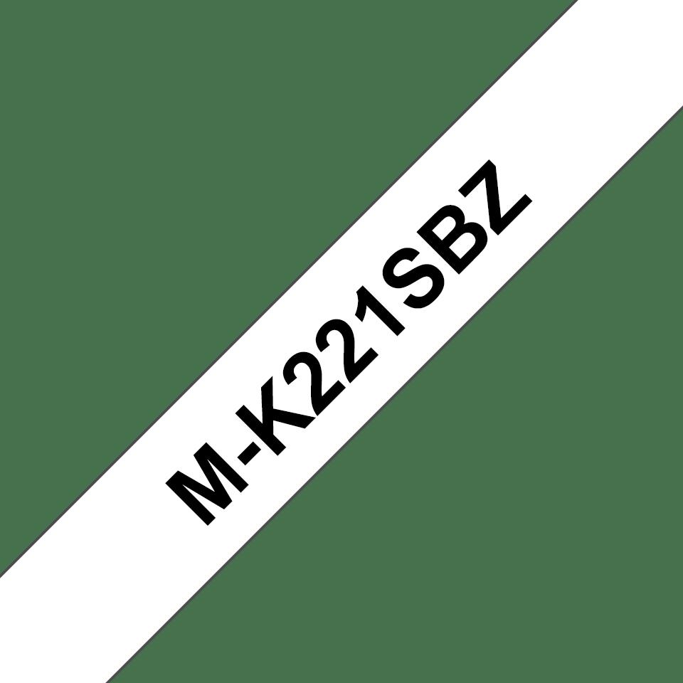 Original M-K221SBZ Schriftbandkassette von Brother – Schwarz auf Weiß, 9mm breit