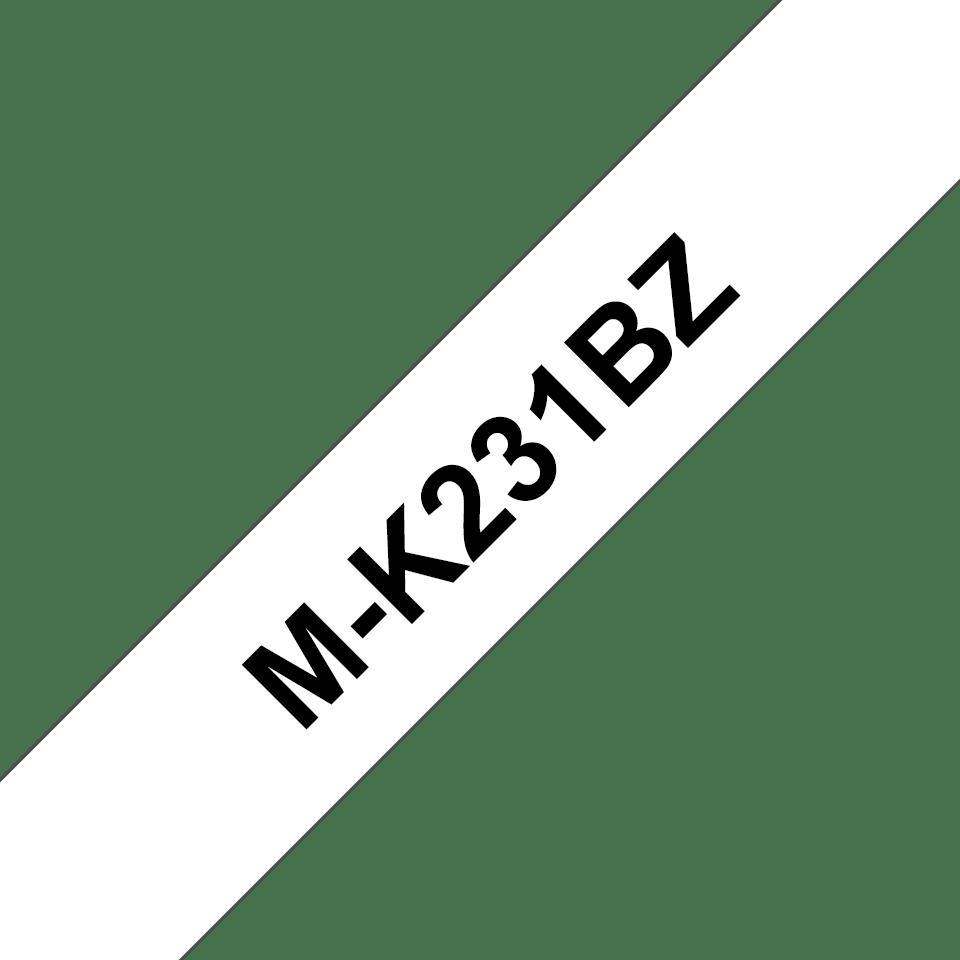 Original M-K231BZ Schriftbandkassette von Brother – Schwarz auf Weiß, 9mm breit
