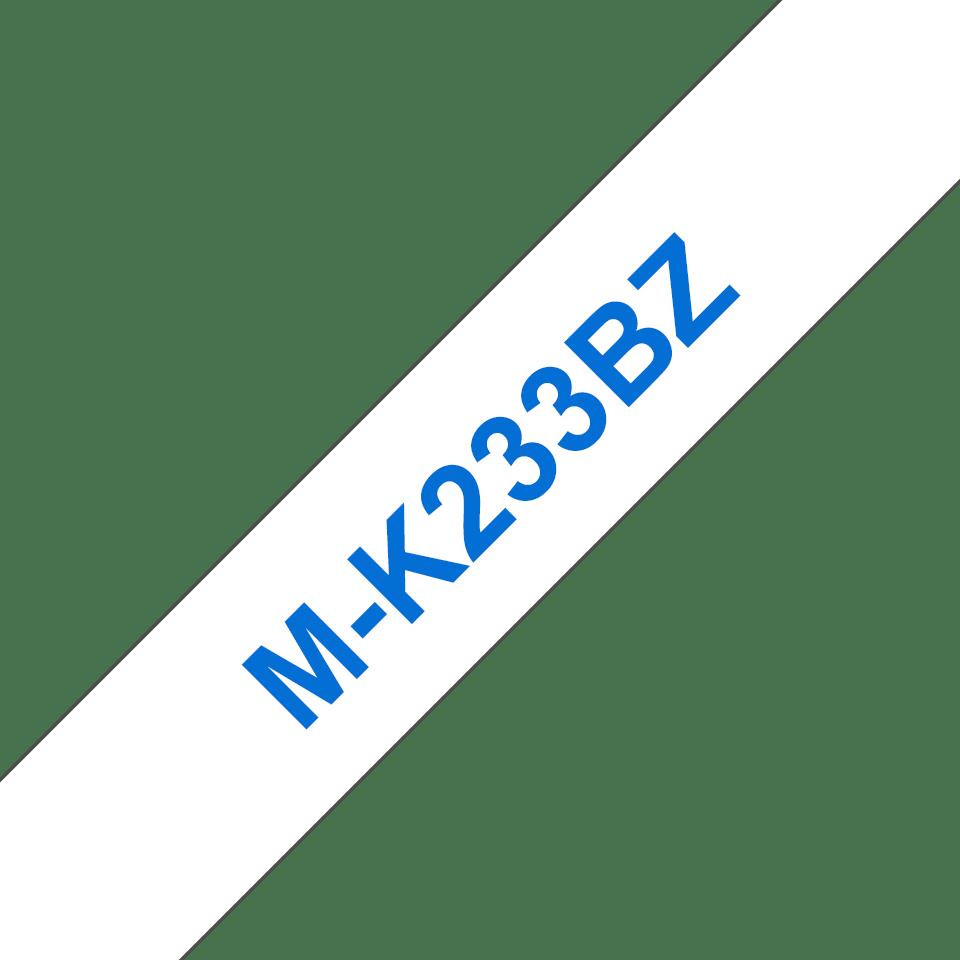 Original M-K233BZ Schriftbandkassette von Brother – Blau auf Weiß, 12mm breit