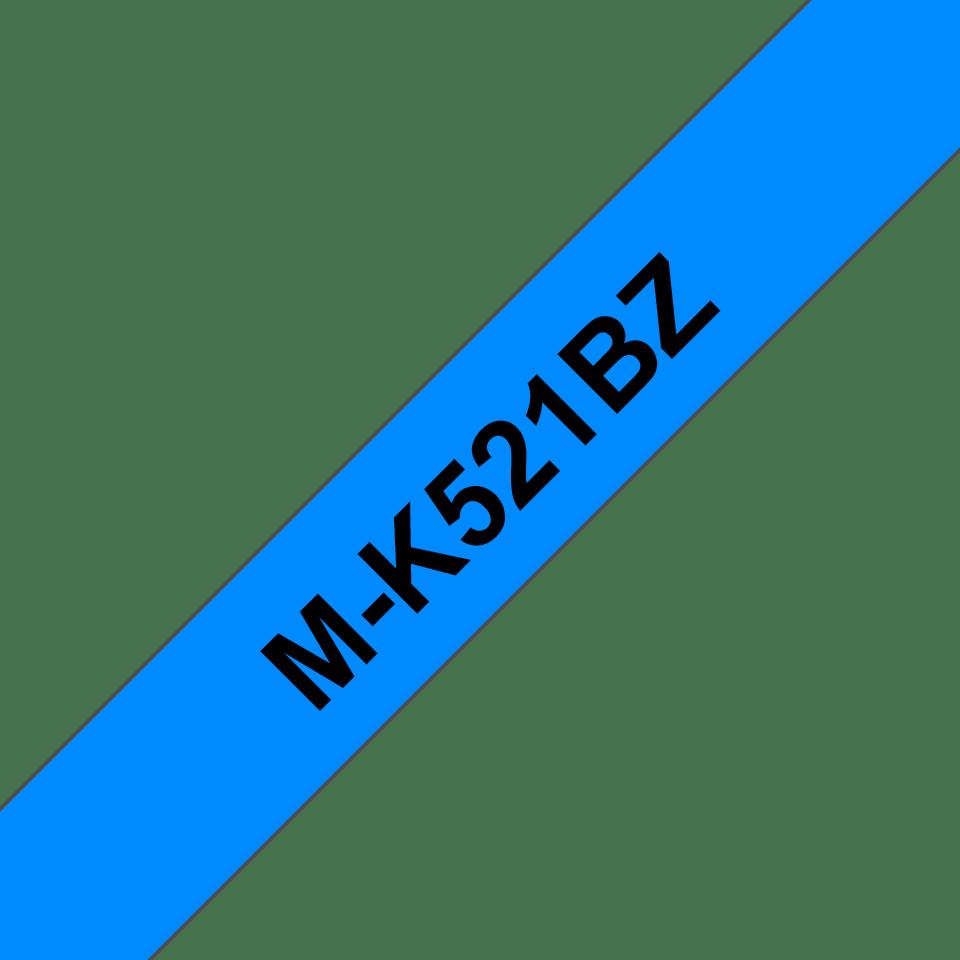 Original M-K521BZ Schriftbandkassette von Brother – Schwarz auf Blau, 9mm