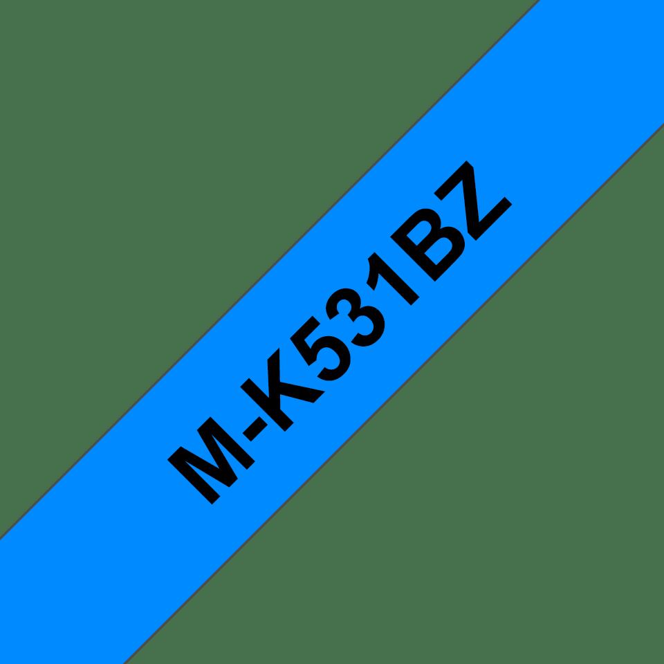 Original M-K531BZ Schriftbandkassette von Brother – Schwarz auf Blau, 12mm