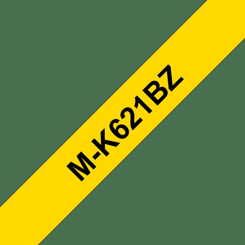 Original M-K621BZ Schriftbandkassette von Brother – Schwarz auf Gelb, 9mm breit