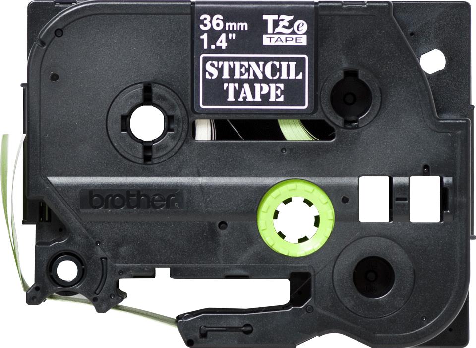 Original STe-161 Schablonenbandkassette von Brother – Schwarz, 36mm breit