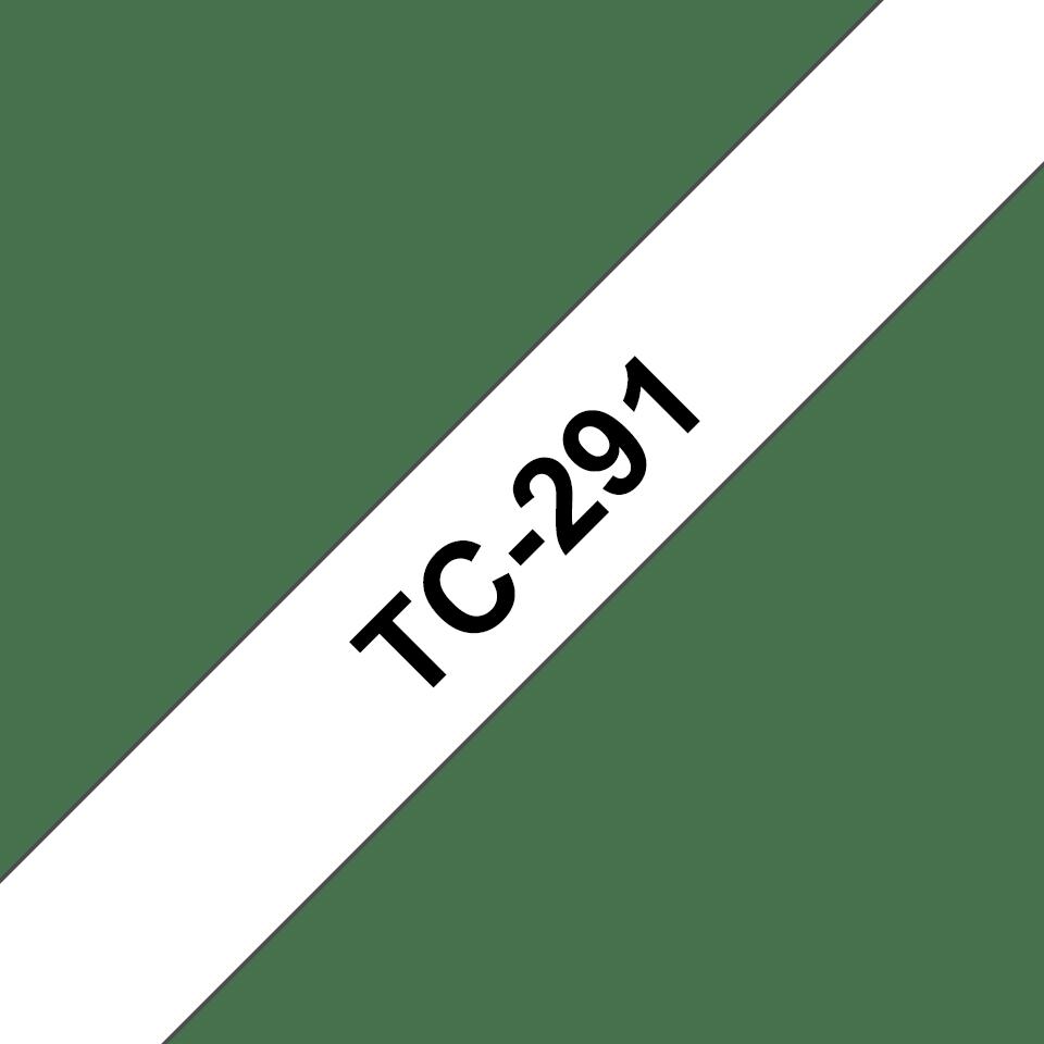 Cassette à ruban pour étiqueteuse TC-291 Brother originale – Noir sur blanc, 9mm de large