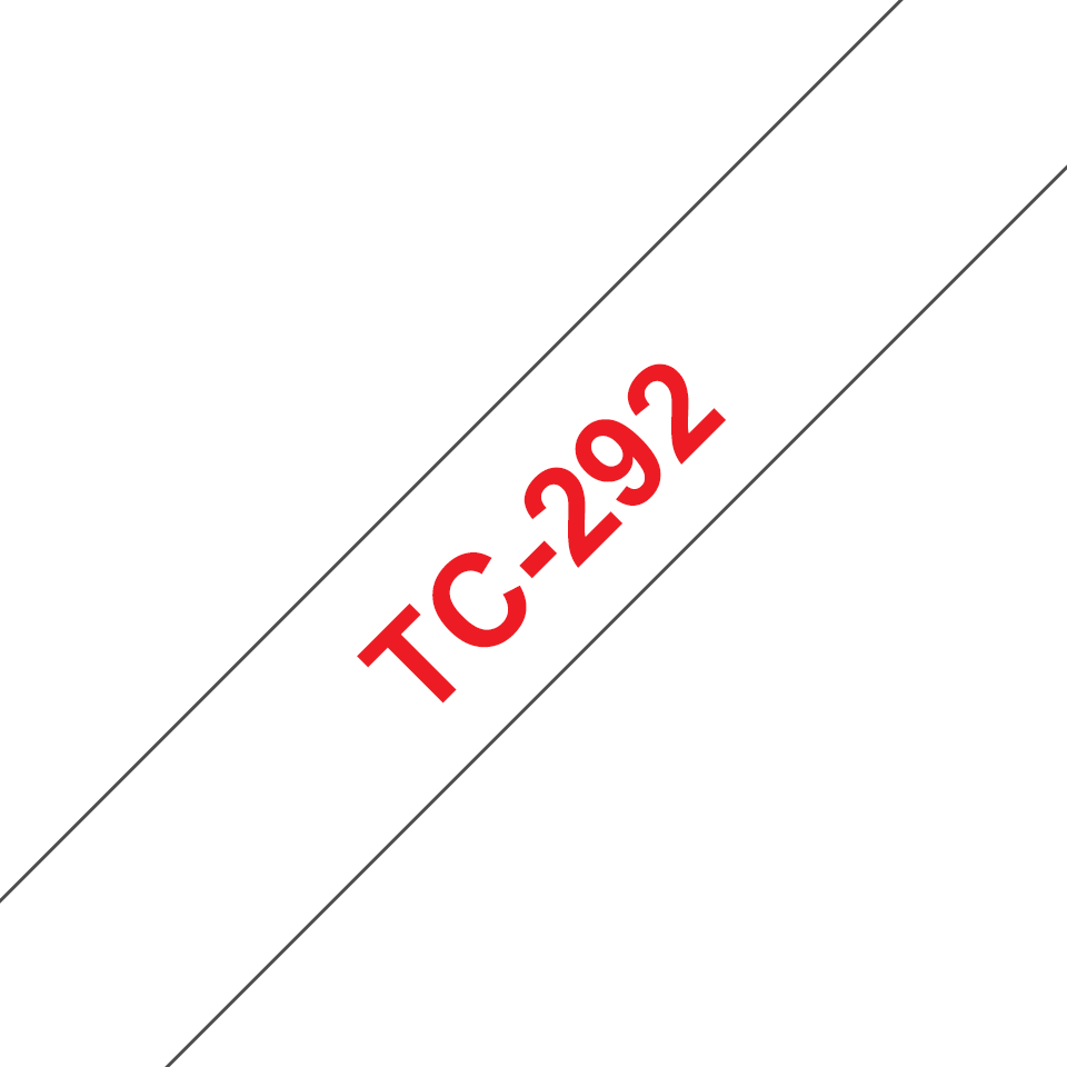 Original TC-292 Schriftbandkassette von Brother – Rot auf Weiß, 9mm breit