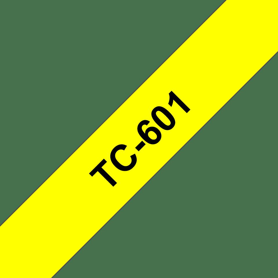 Original TC-601 Schriftbandkassette von Brother – Schwarz auf Gelb, 12mm breit