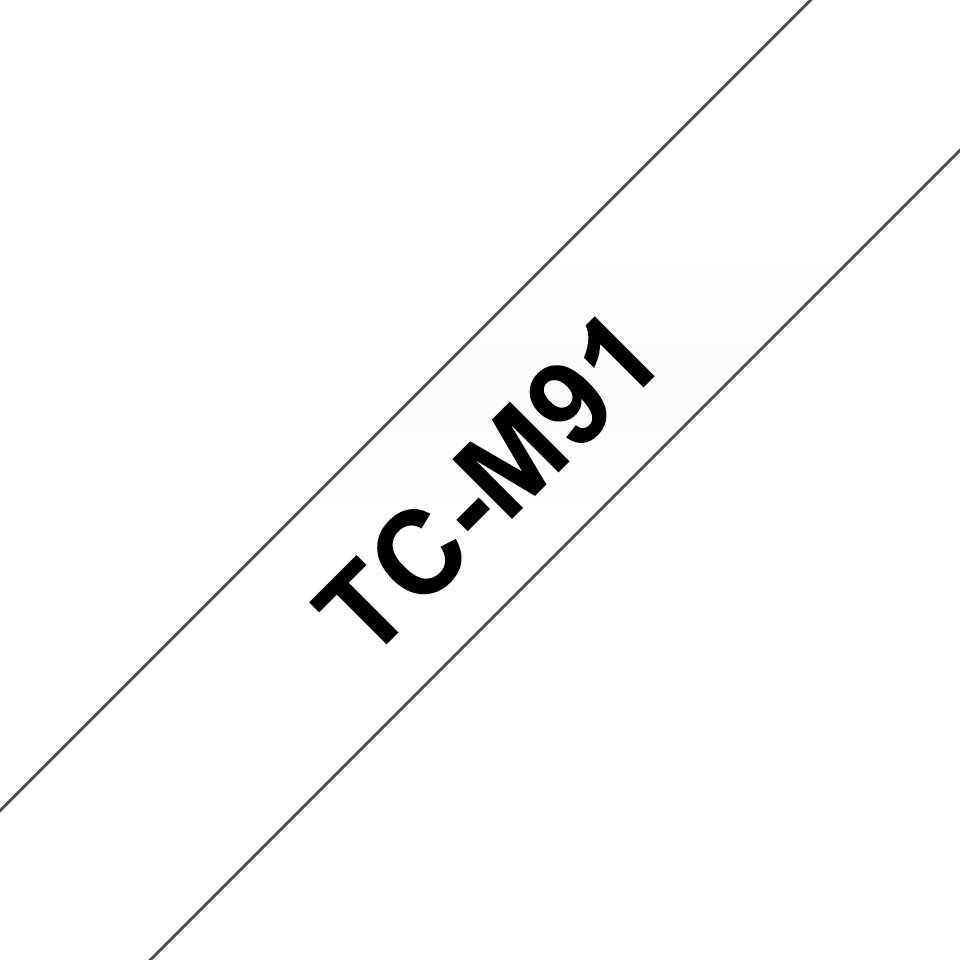 Original TC-M91 Schriftbandkassette von Brother – Schwarz auf Transparent, 9mm breit