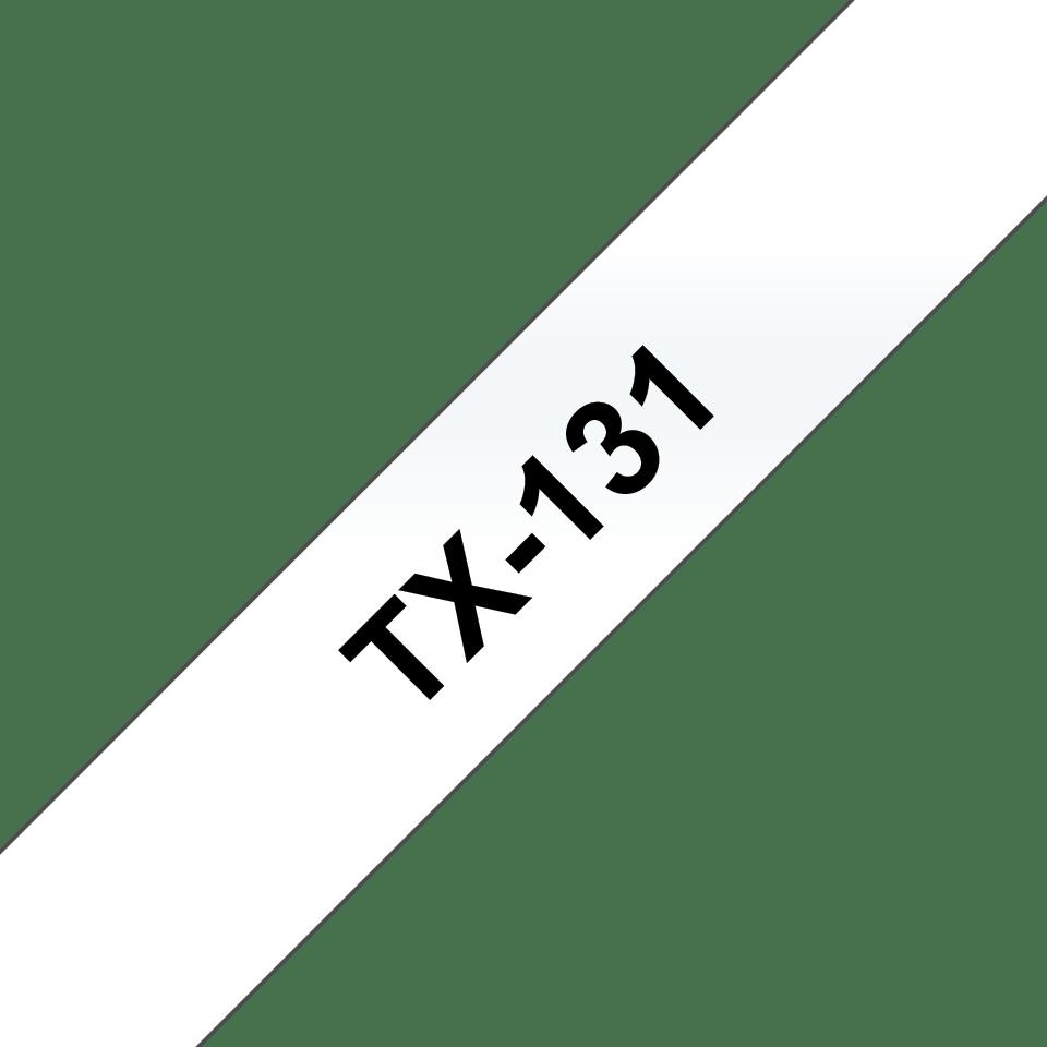 Original TX-131 Schriftbandkassette von Brother – Schwarz auf Transparent, 12mm breit