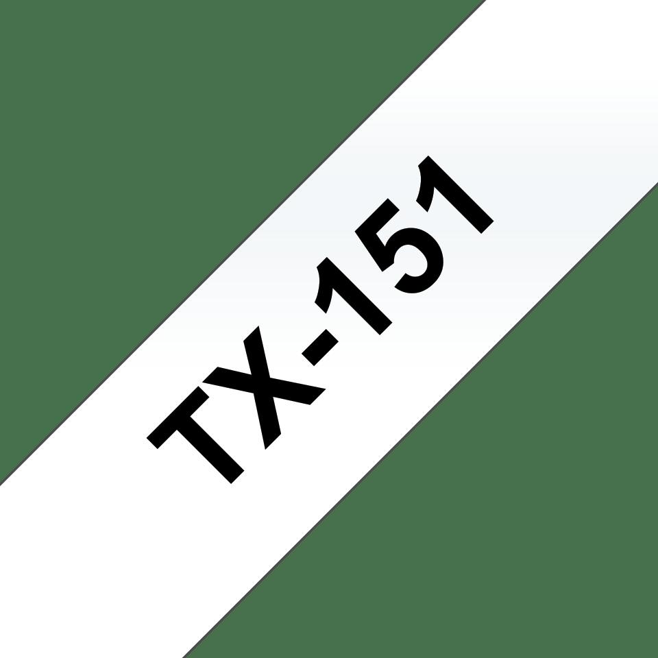 Cassette à ruban pour étiqueteuse TX-151 Brother originale – Transparent, 24mm de large