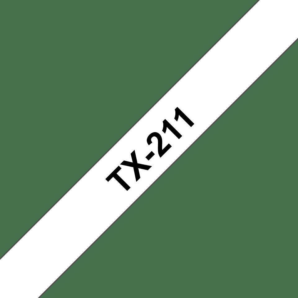 Original TX-211 Schriftbandkassette von Brother – Schwarz auf Weiß, 6mm breit