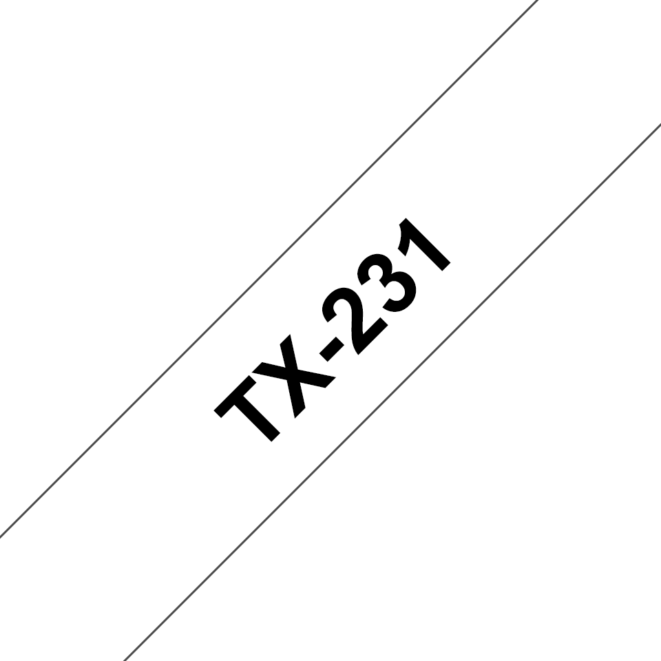 Cassette à ruban pour étiqueteuse TX-231 Brother originale – Noir sur blanc, 12mm de large