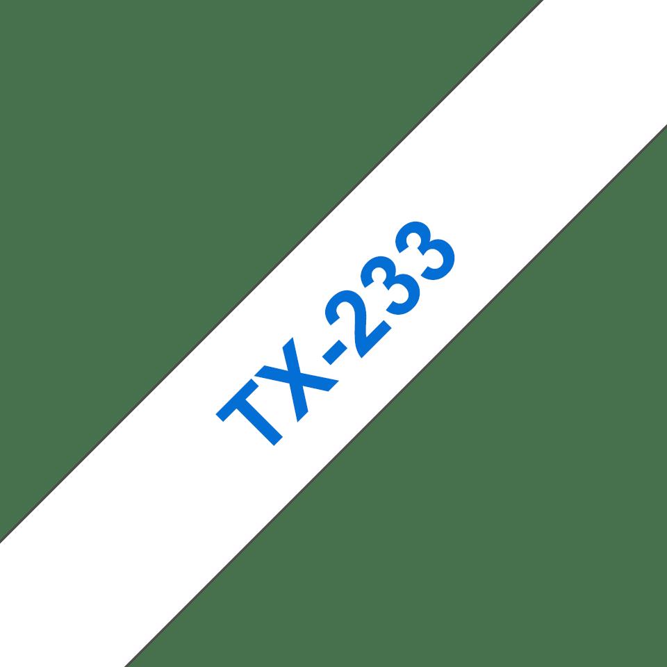 Original TX-233 Schriftbandkassette von Brother – Blau auf Weiß, 12mm breit