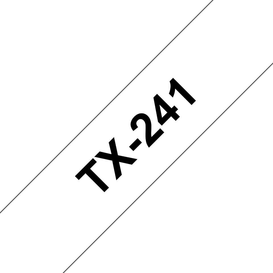 Cassette à ruban pour étiqueteuse TX-241 Brother originale – Noir sur blanc, 18mm de large