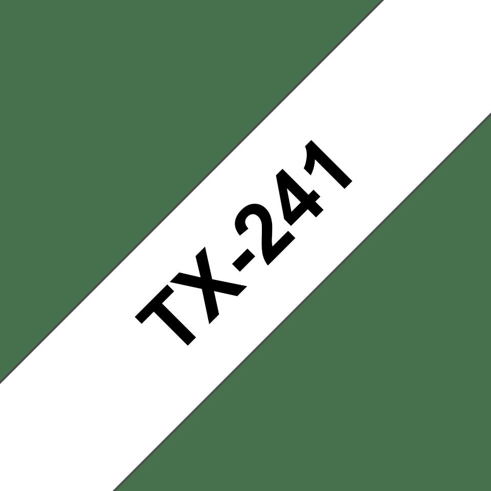 Original TX-241 Schriftbandkassette von Brother – Schwarz auf Weiß, 18mm breit