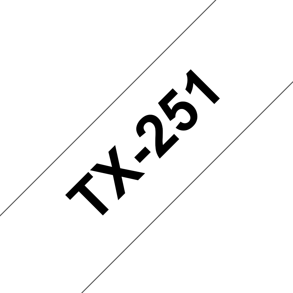 Cassette à ruban pour étiqueteuse TX-251 Brother originale – Noir sur blanc, 24mm de large
