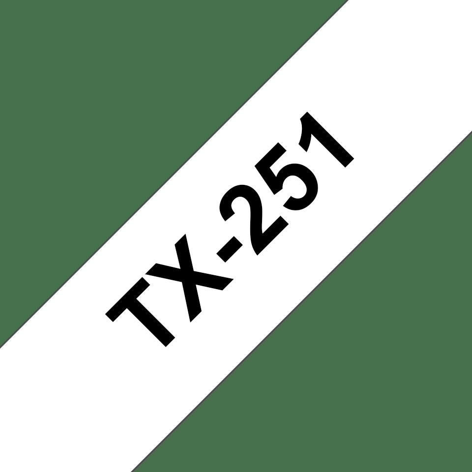 Original TX-251 Schriftbandkassette von Brother – Schwarz auf Weiß, 24mm breit