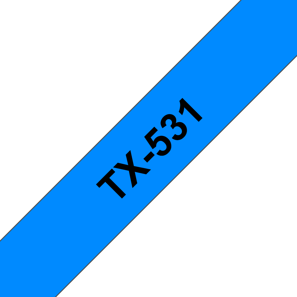Cassette à ruban pour étiqueteuse TX-531 Brother originale – Noir sur bleu, 12mm de large