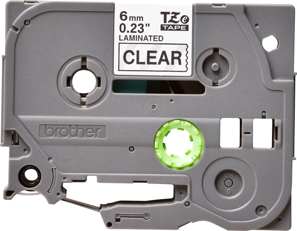 Cassette à ruban pour étiqueteuse TZe-111 Brother originale – Noir sur transparent, 6mm de large