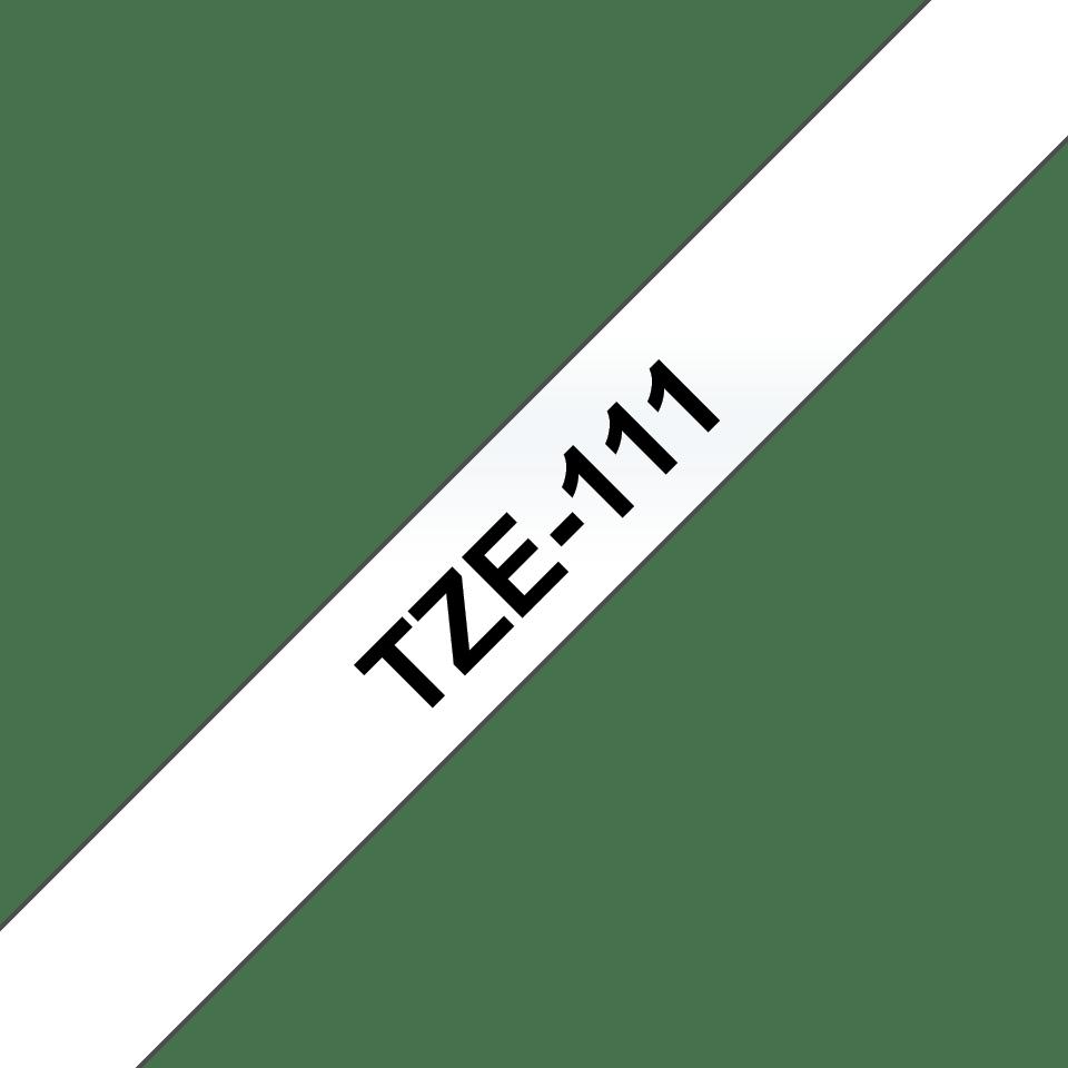 Cassette à ruban pour étiqueteuse TZe-111 Brother originale – Noir sur transparent, 6mm de large 3
