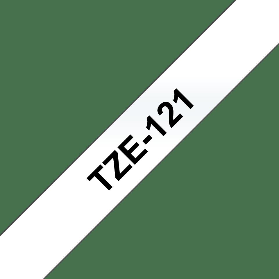 Brother TZe-121 Schriftband – schwarz auf transparent 3