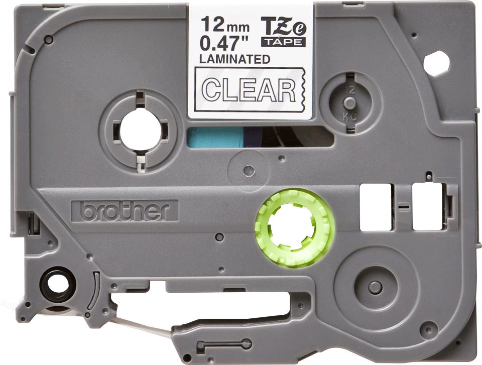 Cassette à ruban pour étiqueteuse TZe-135 Brother originale – Blanc sur transparent, 12mm de large