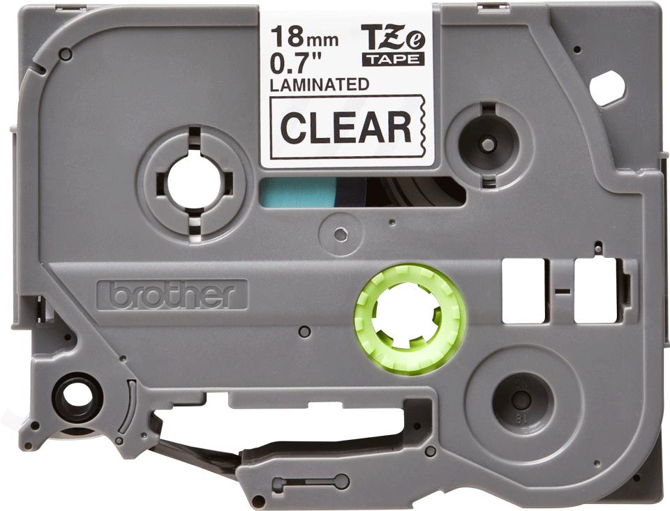 Original TZe-141 Schriftbandkassette von Brother – Schwarz auf Transparent, 18mm breit 0