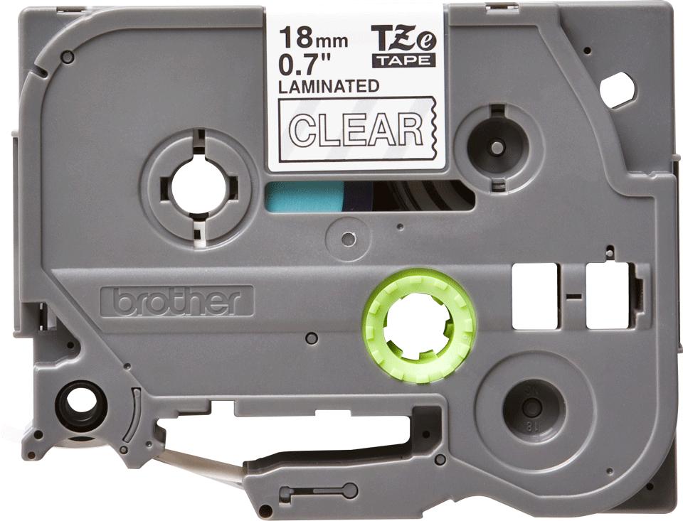 Cassette à ruban pour étiqueteuse TZe-145 Brother originale – Blanc sur transparent, 18mm de large