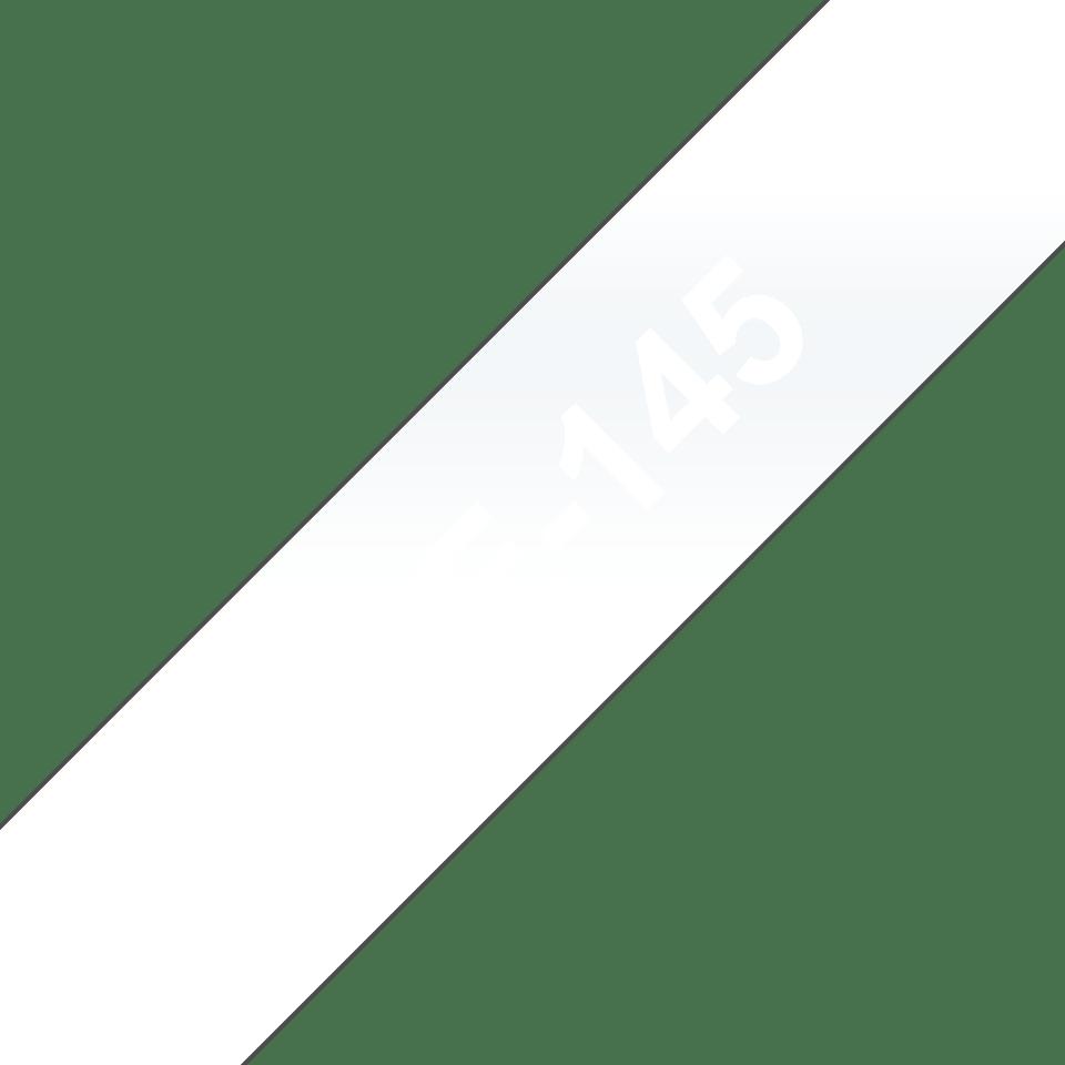 Cassette à ruban pour étiqueteuse TZe-145 Brother originale – Blanc sur transparent, 18mm de large 3