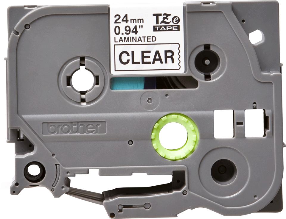 Cassette à ruban pour étiqueteuse TZe-151 Brother originale – Transparent, 24mm de large