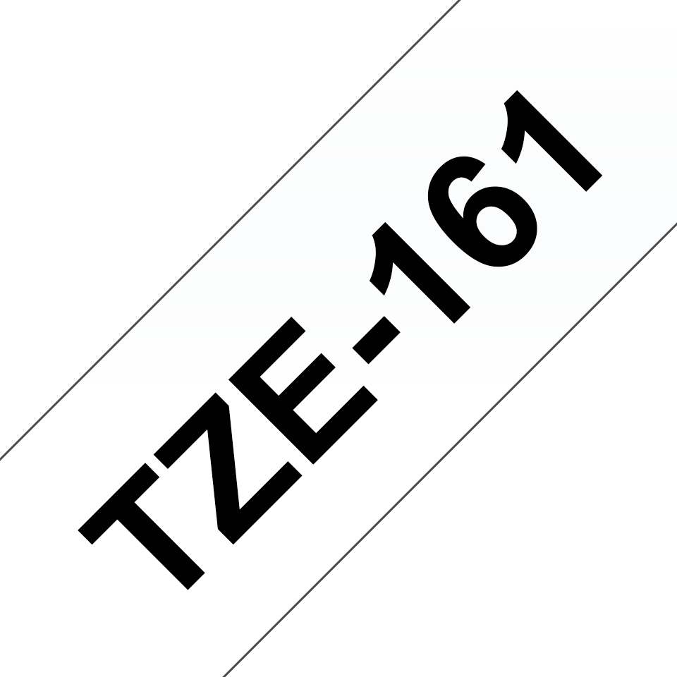 Cassette à ruban pour étiqueteuse TZe-161 Brother originale – Noir sur transparent, 36mm de large
