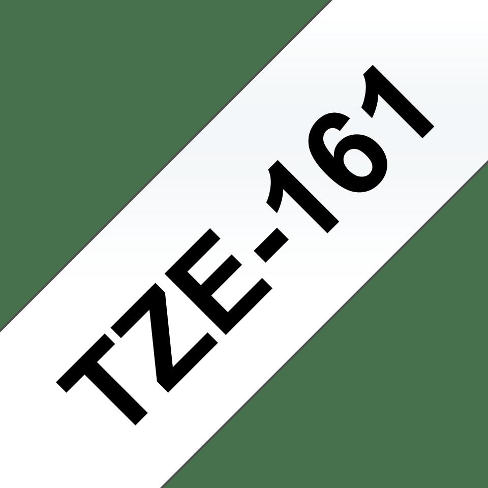 Original TZe-161 Schriftbandkassette von Brother – Schwarz auf Transparent, 36mm breit 3