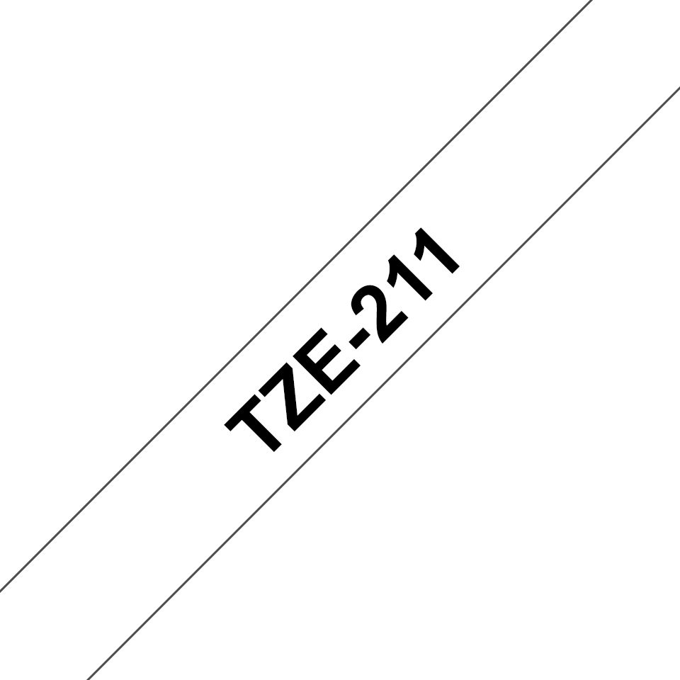 Brother TZe-211 Schriftband – schwarz auf weiß 3