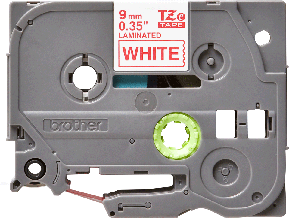 Cassette à ruban pour étiqueteuse TZe-222 Brother originale – Rouge sur blanc, 9 mm de large