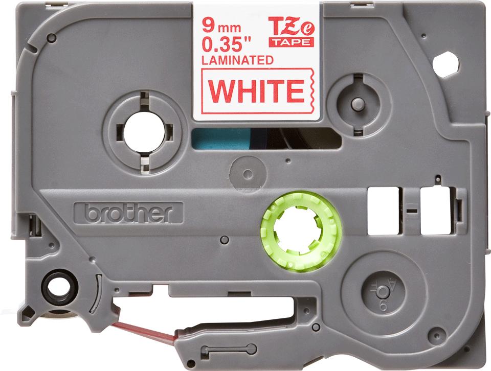 Original TZe-222 Schriftbandkassette von Brother – Rot auf Weiß, 9mm breit