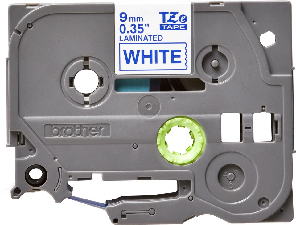 Cassette à ruban pour étiqueteuse TZe-223 Brother originale – Bleu sur blanc, 9mm de large