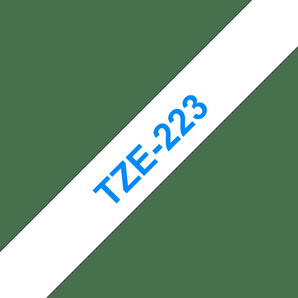Original TZe-223 Schriftbandkassette von Brother – Blau auf Weiß, 9mm breit 3