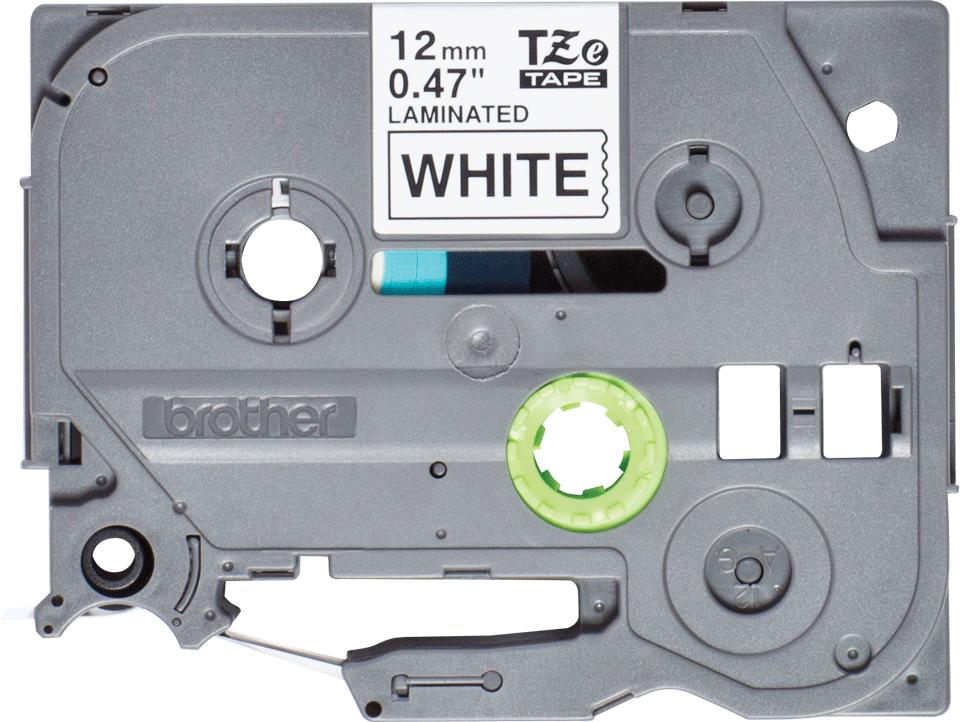 Original TZe-231S Schriftbandkassette von Brother – Schwarz auf Weiß, 12mm breit 2