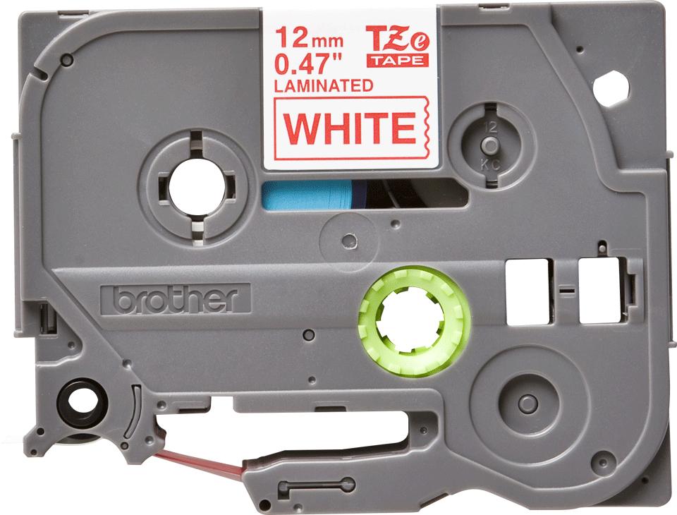 Original TZe-232 Schriftbandkassette von Brother – Rot auf Weiß, 12mm breit