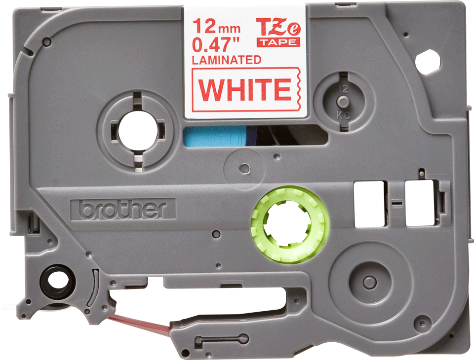 Cassette à ruban pour étiqueteuse TZe-232 Brother originale – Rouge sur blanc, 12 mm de large