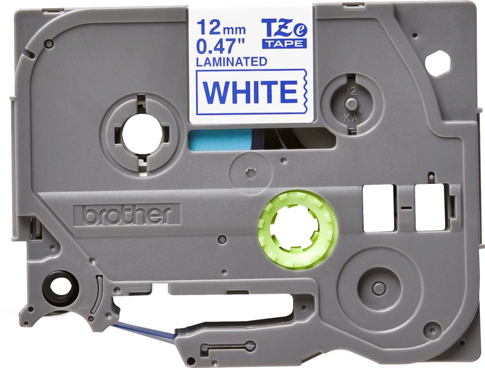 Original TZe-233 Schriftbandkassette von Brother – Blau auf Weiß, 12mm breit