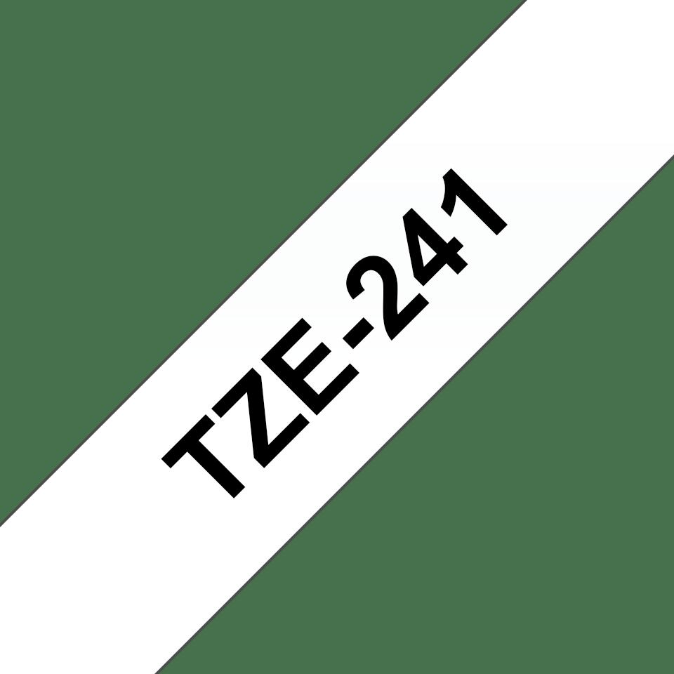 Original TZe-241 Schriftbandkassette von Brother – Schwarz auf Weiß, 18mm breit 3
