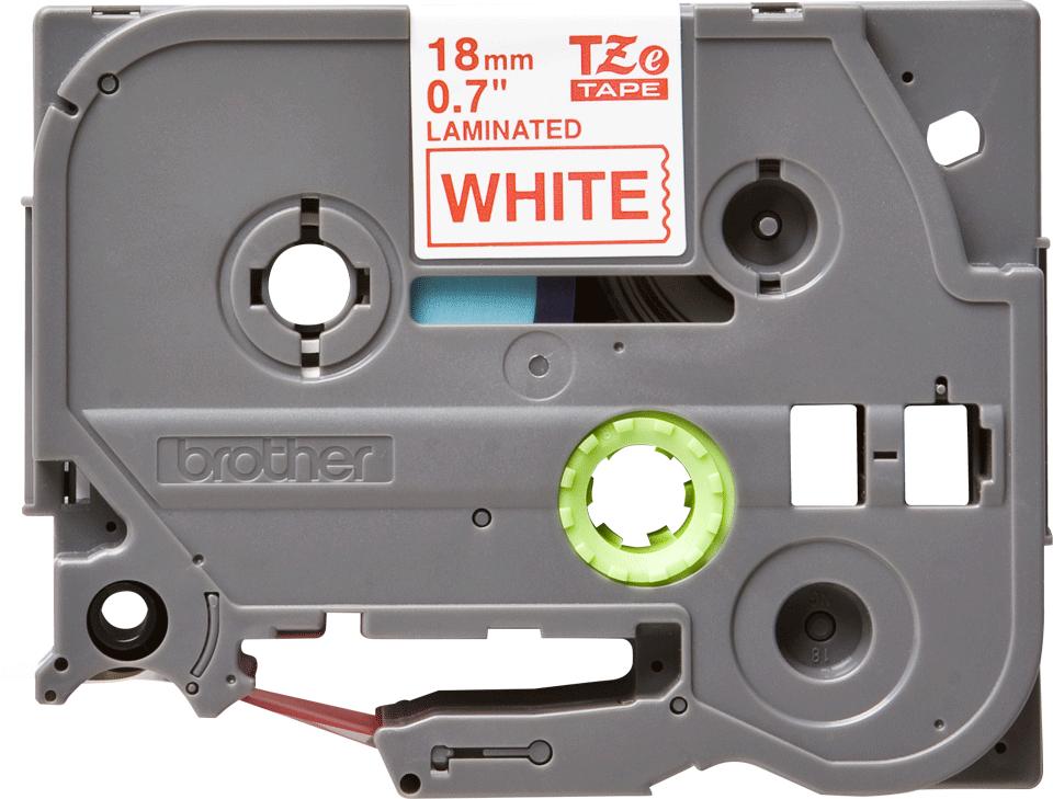 Original TZe-242 Schriftbandkassette von Brother – Rot auf Weiß, 18mm breit